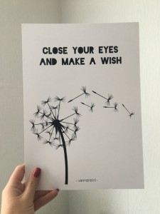 Poster A4: Close your eyes and make a wish