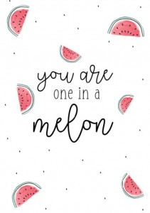 Kaart: One in a melon