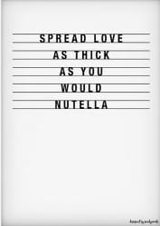 Poster A4: Nutella